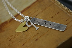 Personalised Nine For A Kiss Necklace