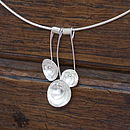 Handmade Silver Wild Roses Necklace