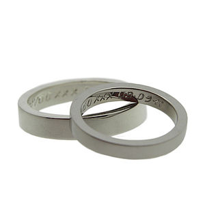 Personalised Silver Flat Band Ring - rings