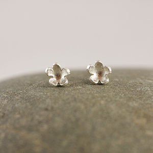 Silver Forget Me Not Stud Earrings - earrings