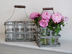 Vintage Bottle Holder - vases