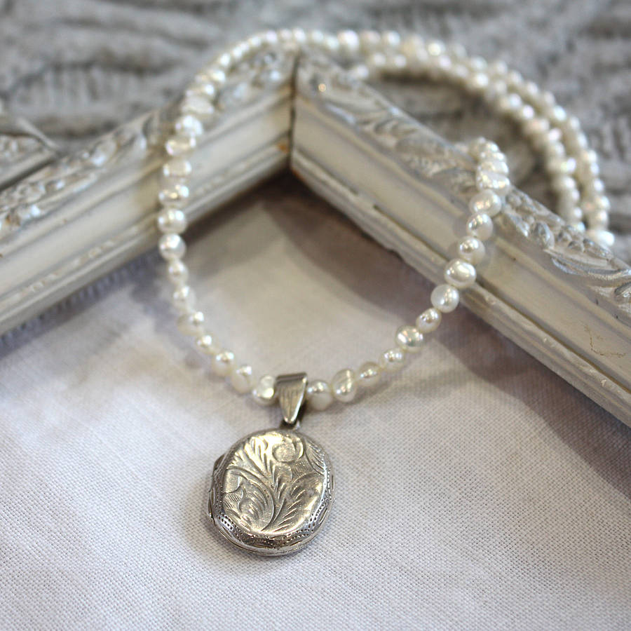 jewelry for vintage agnes locket necklace by harry rocks 1559