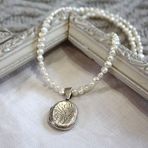 Vintage Agnes Locket Necklace