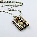 Vintage Style Book Lover Locket
