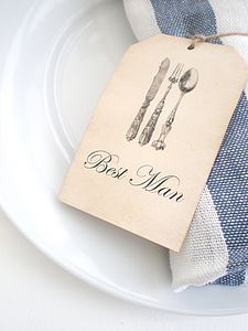 Place Cards Vintage Style - table decorations
