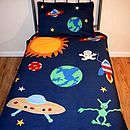 Pure Cotton Embroidered Outer Space Duvet Set
