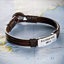 Personalised Adventurous Traveller's Bracelet