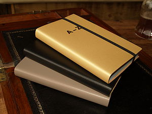 Gold Or Black Leather Pocket London A Z Atlas - frequent traveller