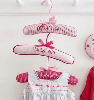Embroidered Children's Coat Hanger