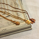 Gold Plate And Silver Charm Necklace