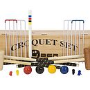 Family Croquet Set With Wooden Box