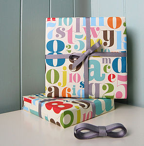 Fancy Letters & Numbers Wrap Set