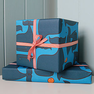 Whale & Fish Wrap Set - ribbon & wrap