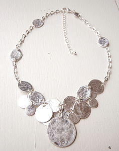 Silver Coin Necklace - necklaces & pendants
