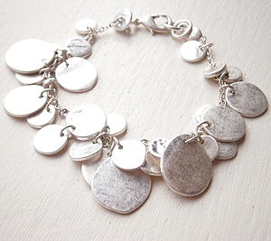 Silver Coin Bracelet - gifts for her