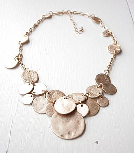 Gold Coin Necklace - statement necklaces