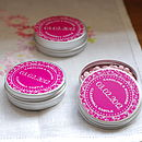 15 Personalised Favour Tins - Baroque Vine