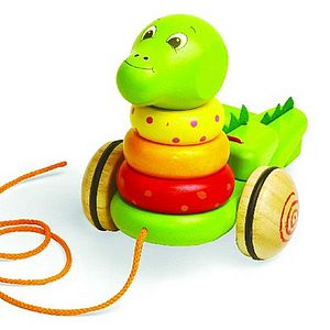 Dinosaur Stack And Pull Toy