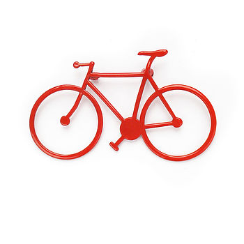 Bicycle Brooch (red)
