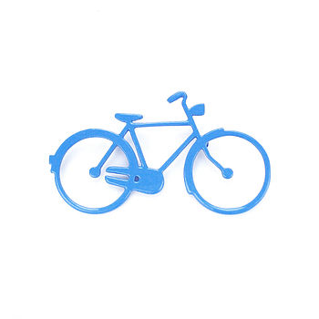 Gents Bicycle Brooch (blue)