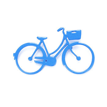 Ladies Bicycle Brooch (blue)