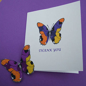 Pansy Seed Thank You Cards Pack Of Three