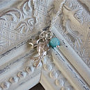 Fish, star and amazonite charm