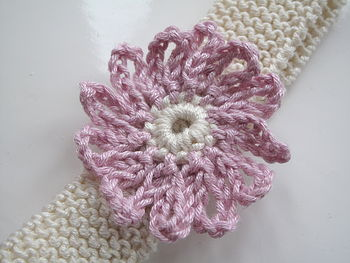 Handmade Headband With Flower