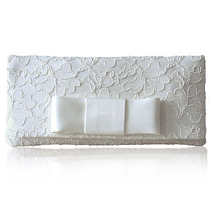 Astrid Bridal Bow Clutch - wedding fashion