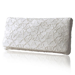 Astrid Simple Lace Clutch - evening bags