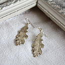 Oak leaf earring silver