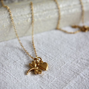 Dragonfly And Heart Necklace - necklaces & pendants