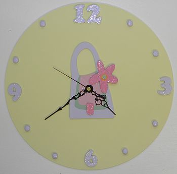 Personalised Handbag Clock