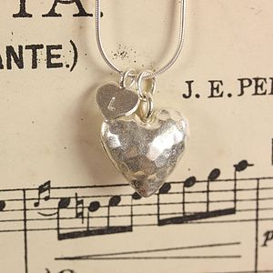 Personalised Silver Love Heart Necklace - jewellery