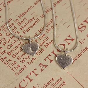 Personalised Tiny Heart Necklace - necklaces & pendants