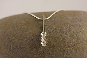 Silver Forget Me Not Drop Necklace