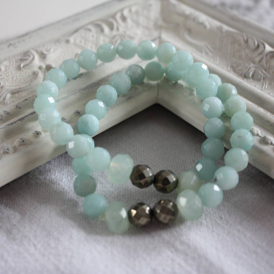 Semi Precious Stretch Bracelet