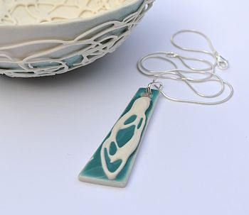 Athena Silver & Porcelain Necklace