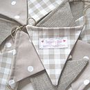 Taupe/Linen string bunting