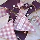 Purple string bunting