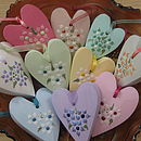 Decorated Hearts On Ribbon