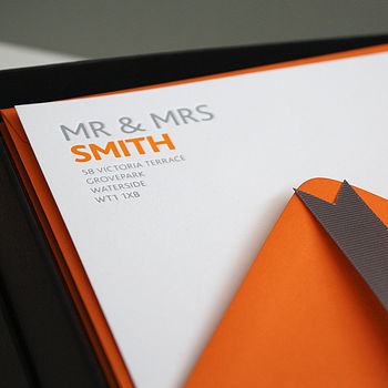 Personalised Letterpress Correspondence Cards