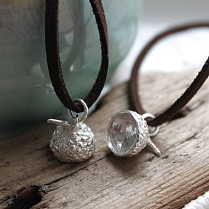 Acorn Cup Pendant - Sterling Silver - necklaces