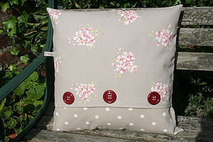 Handmade Chunky Button Cushion - cushions