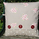 Tilly Taupe and Dotty Cushion