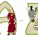 Bamboo Animal Letters And Ark