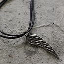 Men's Leather Seraph Pendant