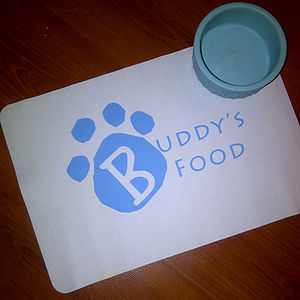 Personalised Pet Feeding Mat - cats