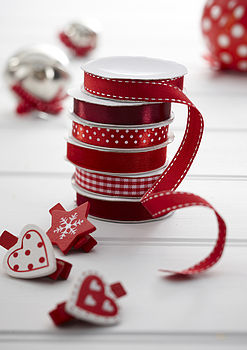 Set Of Six Gift Wrap Ribbon