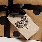 Recycled 'Espresso Heart' Gift Tags - cards